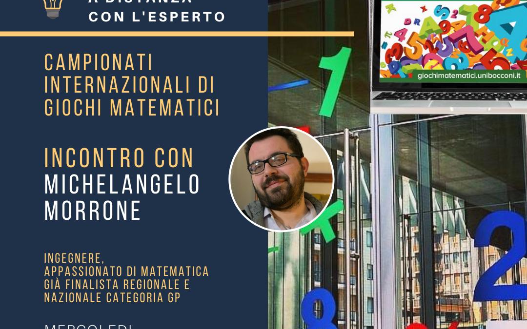 Incontro con l'esperto 13 maggio 2020 – Allenamento a distanza per i Campionati Internazionali di Giochi Matematici